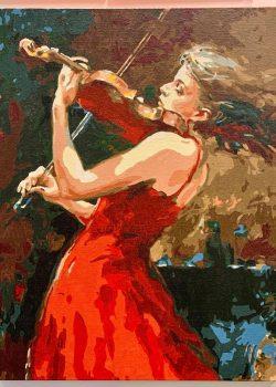 小提琴演奏 | 數字油畫 | 35easy