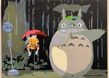 龍貓・雨中候車 | 數字油畫 | 35easy