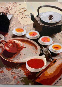 茶趣 | 數字油畫 | 35easy
